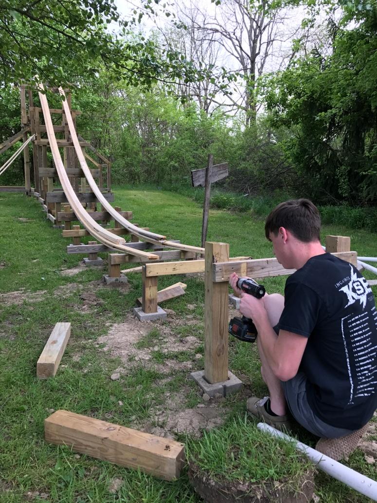 backyard coaster update